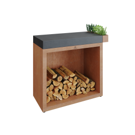 OFYR Butcher Block Storage 90 Corten Dark Grey Ceramic