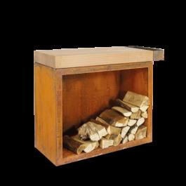 OFYR Butcher Block Storage 90 Corten Teak Wood