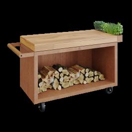 Mise en Place Table Corten 135 PRO Teak Wood