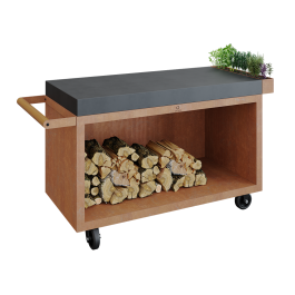 Mise en Place Table Corten 135 PRO Teak Wood