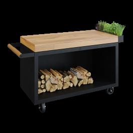 Mise en Place Table Black 135 PRO Teak Wood