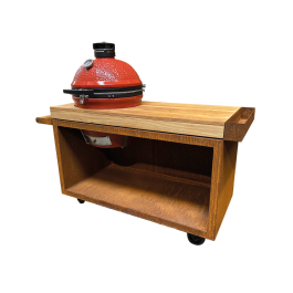 OFYR Kamado Table Corten 135 PRO Teak Wood KJ