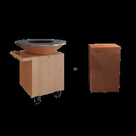 OFYR Classic Corten Upgrade Set + Block Teak Wood