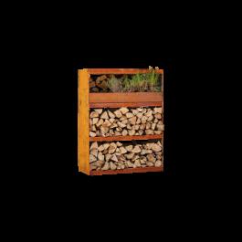 Wood Storage Cabinet Corten