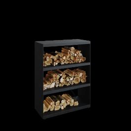 Wood Storage Cabinet Black