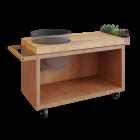 OFYR Kamado Table Corten 135 PRO Teak Wood BGE