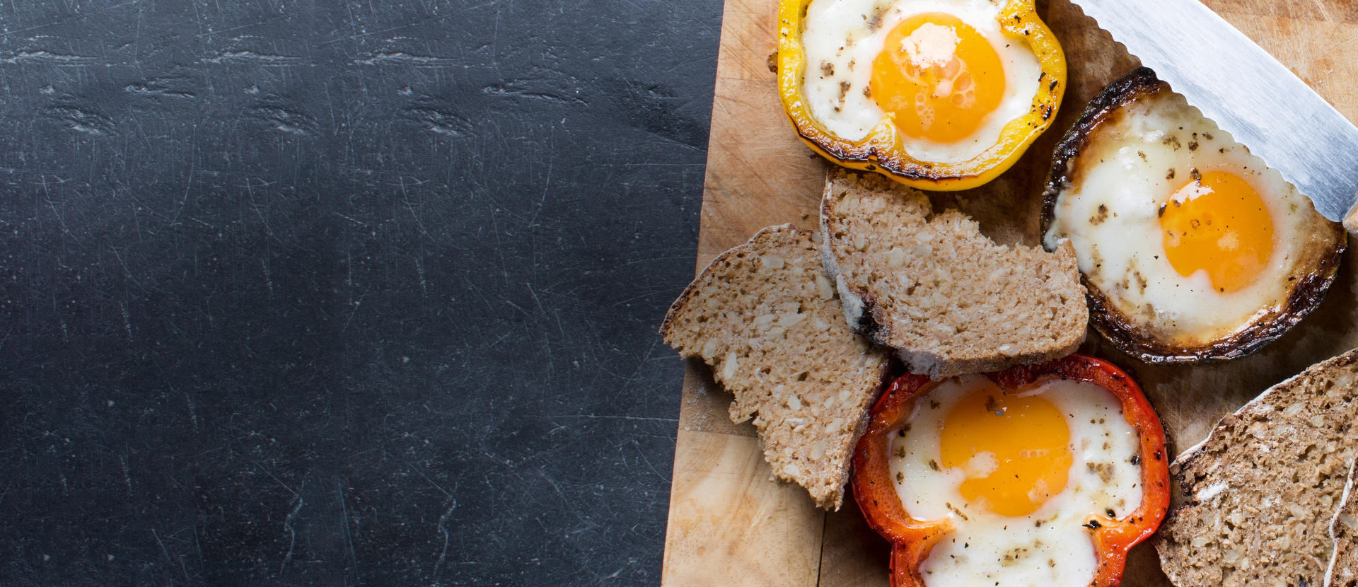 Eggs sunny side-up